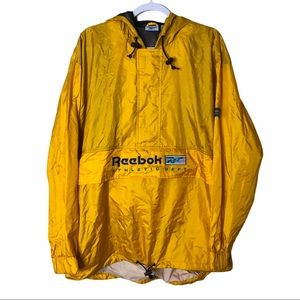 Reebok Yellow Front Zip Windbreaker Men's Size M